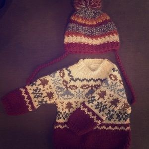Matching hat and sweater